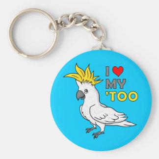 I Love My Cockatoo Key Ring
