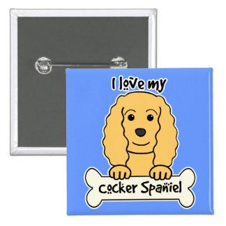 I Love My Cocker Spaniel Button