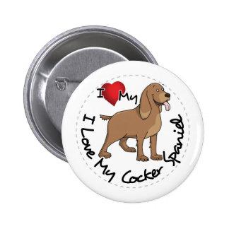 I Love My Cocker Spaniel Dog 6 Cm Round Badge