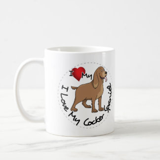 I Love My Cocker Spaniel Dog Coffee Mug