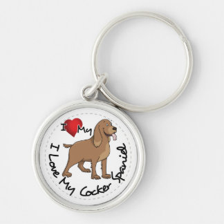 I Love My Cocker Spaniel Dog Key Ring