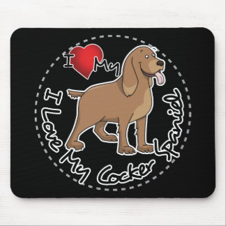 I Love My Cocker Spaniel Dog Mouse Pad