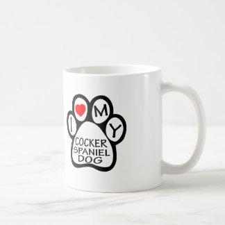 I Love My Cocker Spaniel Dog Mug