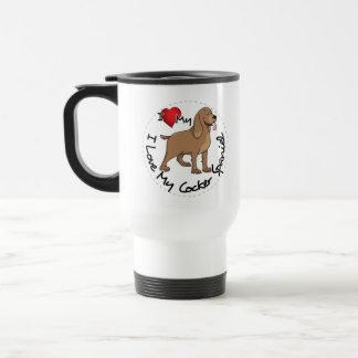I Love My Cocker Spaniel Dog Travel Mug