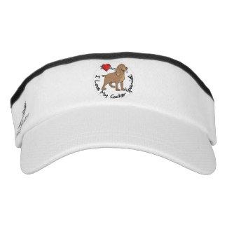 I Love My Cocker Spaniel Dog Visor
