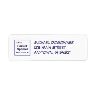 I Love My Cocker Spaniel (Female Dog) Return Address Label