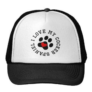 I Love My Cocker Spaniel Trucker Hats