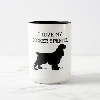 I Love My Cocker Spaniel Coffee Mugs