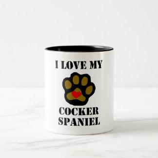 I Love My Cocker Spaniel Mug
