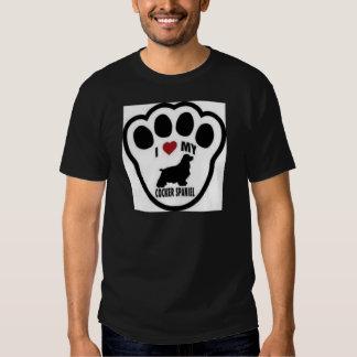 I love my Cocker Spaniel Paw Print T Shirts