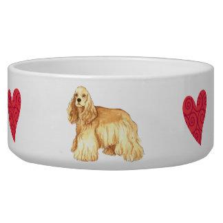 I Love my Cocker Spaniel Pet Water Bowls