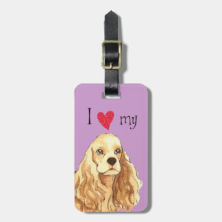 I Love my Cocker Spaniel Tags For Luggage