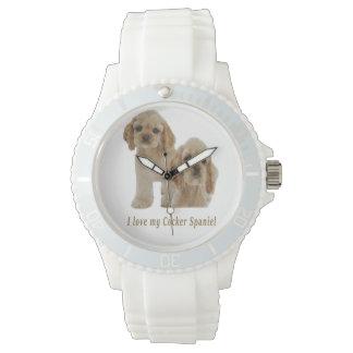 I love my cocker spaniel wrist watch