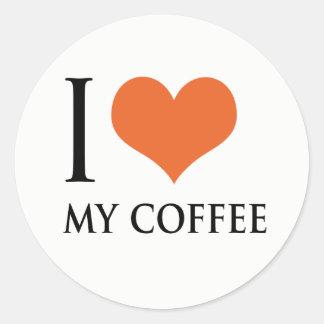 I love my coffee classic round sticker