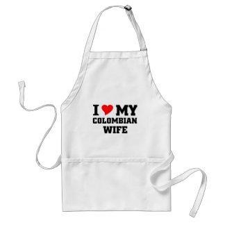 I love my Colombian wife Standard Apron