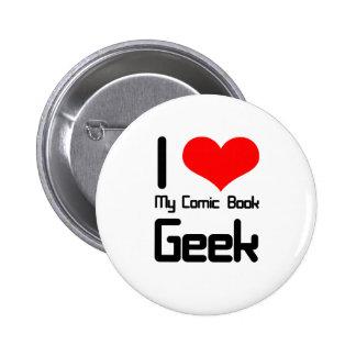I love my comic book geek button