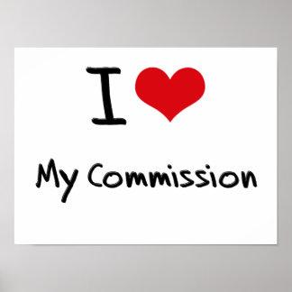 I love My Commission Print