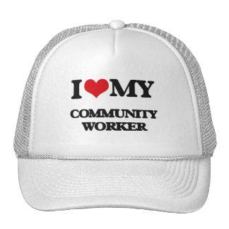 I love my Community Worker Trucker Hat