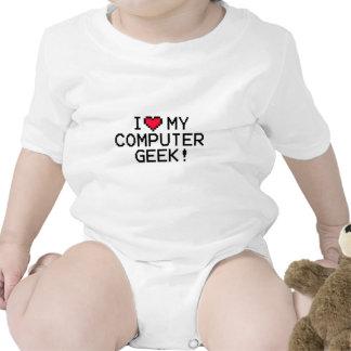 I Love My Computer Geek Baby Bodysuit