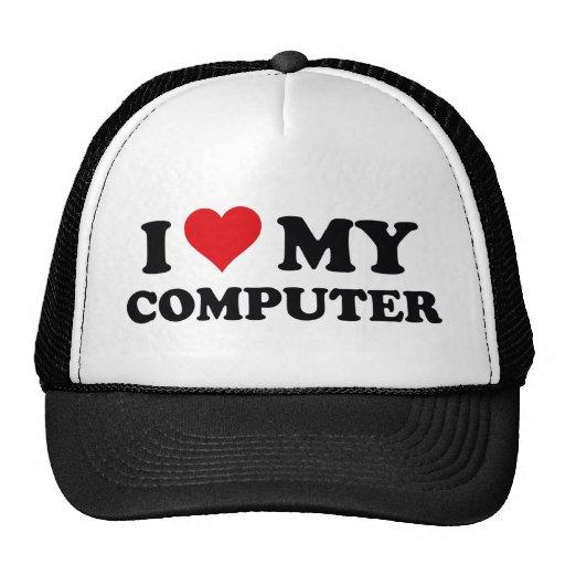 I Love My Computer Mesh Hats