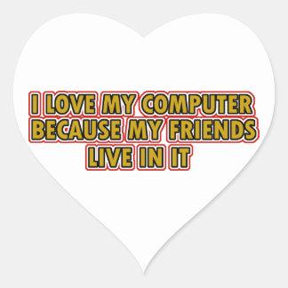 I love my Computer Heart Sticker