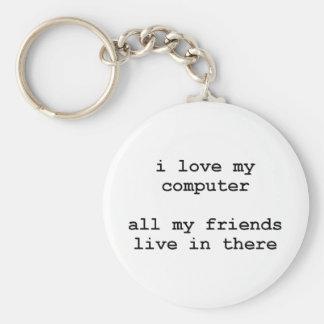 i love my computer key ring