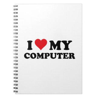 I Love My Computer Spiral Note Books