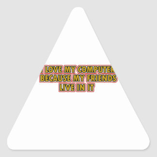I love my Computer Triangle Sticker