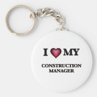 I love my Construction Manager Basic Round Button Key Ring