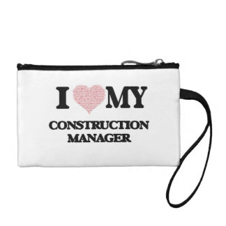I love my Construction Manager (Heart Made from Wo Coin Purses