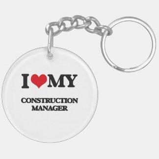 I love my Construction Manager Acrylic Keychain