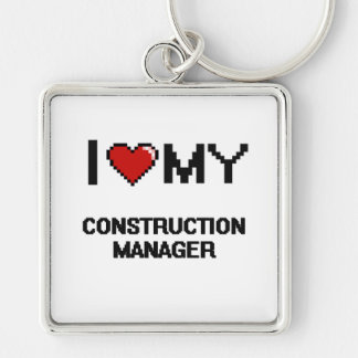 I love my Construction Manager Silver-Colored Square Key Ring