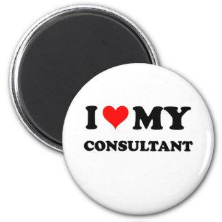 I Love My Consultant 6 Cm Round Magnet