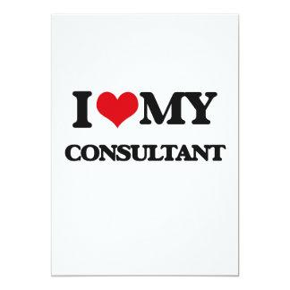"""I love my Consultant 5"""" X 7"""" Invitation Card"""