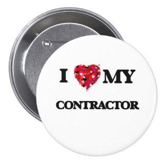 I love my Contractor 7.5 Cm Round Badge