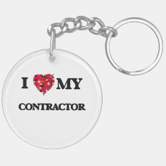 I love my Contractor Double-Sided Round Acrylic Key Ring
