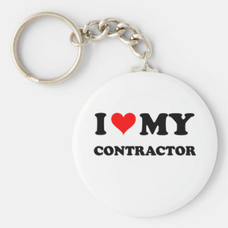 I Love My Contractor Keychains