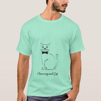 I love my cool Cat, modern Men's T-Shirt