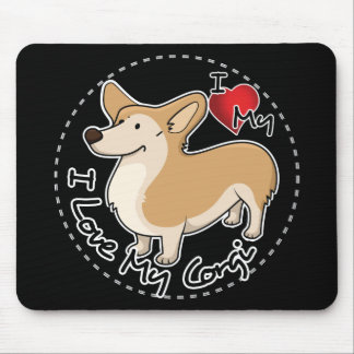 I Love My Corgi Dog Mouse Pad