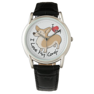 I Love My Corgi Dog Watch