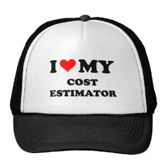 I Love My Cost Estimator Mesh Hat
