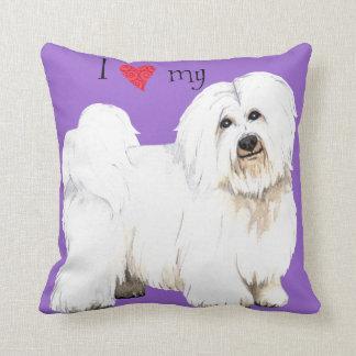 I Love my Coton de Tulear Cushion