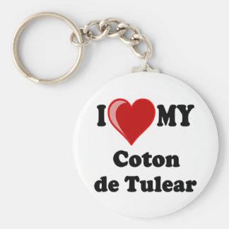 I Love My Coton De Tulear Dog Basic Round Button Key Ring