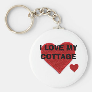 I LOVE MY COTTAGE KEY RING
