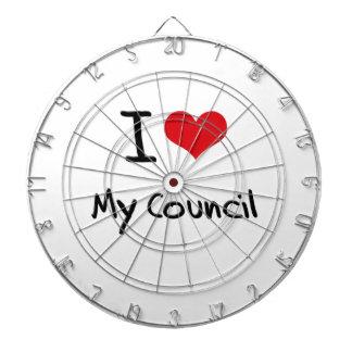 I love My Council Dartboard With Darts