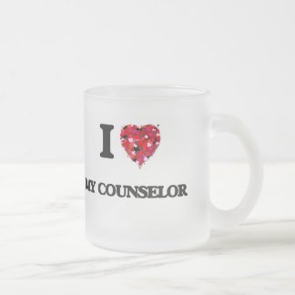 I love My Counselor Frosted Glass Mug
