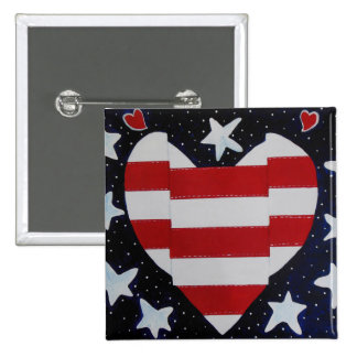I love my Country 15 Cm Square Badge