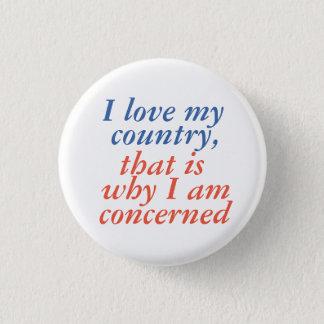 I love my country 3 cm round badge