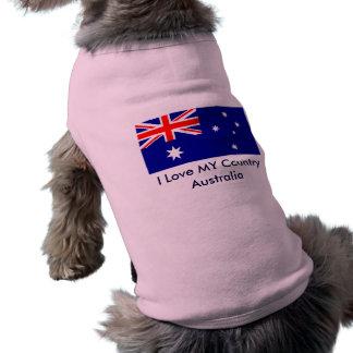 I Love MY Country Australia Flag Template Dog Tshirt