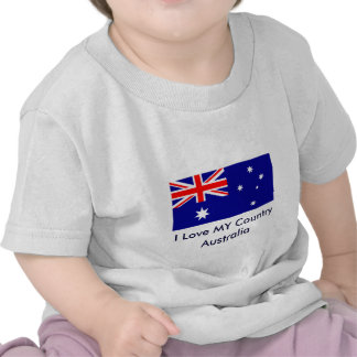 I Love MY Country Australia Flag Template Tshirts